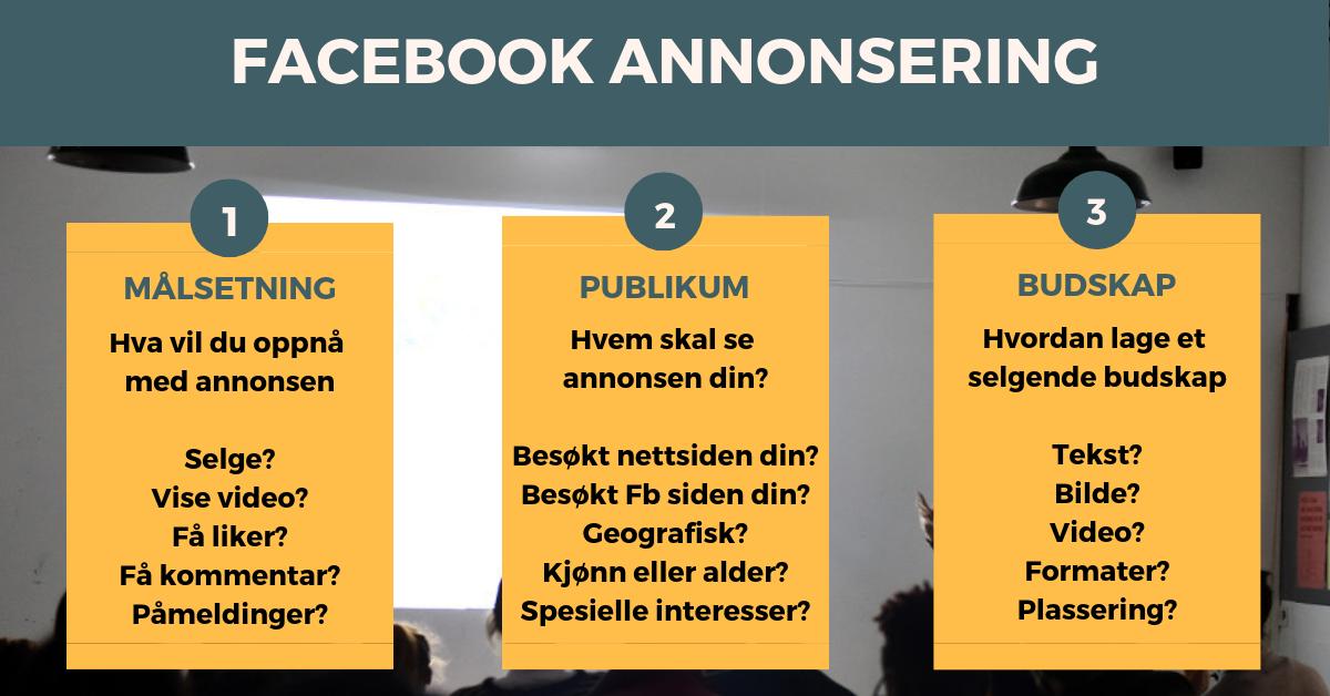 e7ad3c6a Facebook annonsering er en enkel og gøyal måte å få bedre resultater på